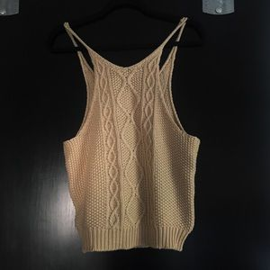 Vici Tops - Cable Knit Tank